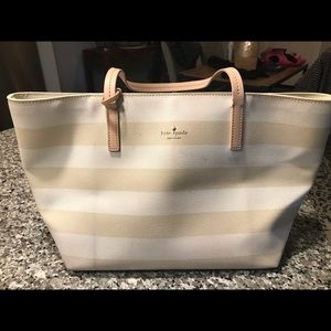 Kate Spade Leather Striped Tote